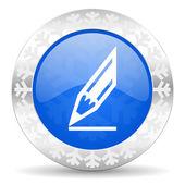 Pencil christmas icon — Zdjęcie stockowe