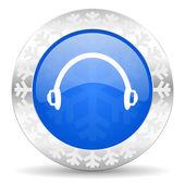 Headphones christmas icon — Foto Stock