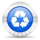 Recycle christmas icon — Стоковое фото