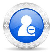 Remove contact christmas icon — Стоковое фото