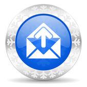 Mail christmas icon — Stock Photo