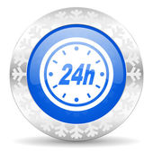 24h christmas icon — Stock fotografie