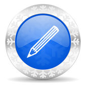 Pencil christmas icon — Stock Photo