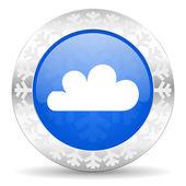 Cloud christmas icon — Stock Photo