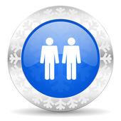 Couple christmas icon — Foto Stock