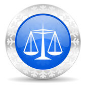 Justice christmas icon — Foto Stock