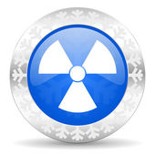 Radiation christmas icon — 图库照片