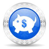 Piggy bank christmas icon — Стоковое фото