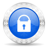 Padlock christmas icon — Foto de Stock