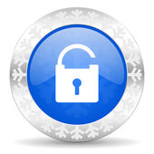 Padlock christmas icon — Foto Stock