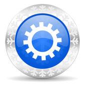 Gear christmas icon — Stock Photo