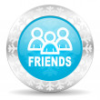 Friends icon — Stock Photo #36943925