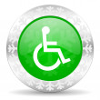 Wheelchair icon — Stock Photo #36998377