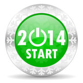 New year 2014 icon — Foto Stock
