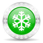 Ikona śnieg — Zdjęcie stockowe