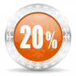 20 percent icon — Stock Photo