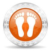 Foot icon — Stock Photo