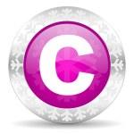 Copyright christmas icon — Stock Photo #37188121