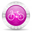 Bicycle christmas icon — Stockfoto