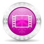 Movie christmas icon — Stock Photo #37188599