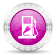 Fuel christmas icon — Stock Photo