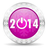 Año nuevo icono de navidad de 2014 — Foto de Stock