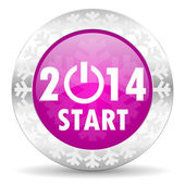 New year 2014 christmas icon — Stock Photo