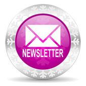 Newsletter christmas icon — Stock Photo