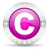 Copyright christmas icon — Stock Photo