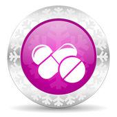 Medicine christmas icon — Stock Photo