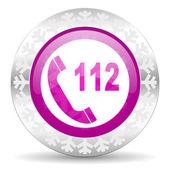 Emergency call christmas icon — Stock Photo