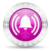 Alarm christmas icon — Stock Photo