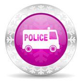 Police christmas icon — Stock Photo