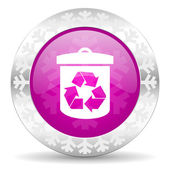 Recycle christmas icon — Stock Photo