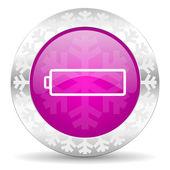 Battery christmas icon — Foto de Stock