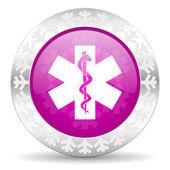 Emergency christmas icon — Stok fotoğraf