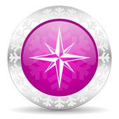 Compass christmas icon — Stock Photo