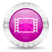 Movie christmas icon — Stock Photo