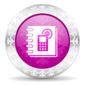 Phonebook christmas icon — Stock Photo