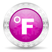 Fahrenheit christmas icon — Stock Photo