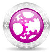 Gear christmas icon — Stock Photo
