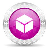 Box christmas icon — Stock Photo