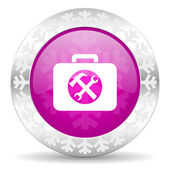 Toolkit christmas icon — Stock Photo