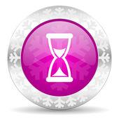 Time christmas icon — Stock Photo