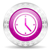 Time christmas icon — Stock Photo