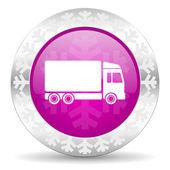 Delivery christmas icon — Stock Photo