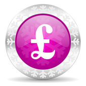Pound christmas icon — Stockfoto