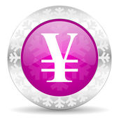 Yen christmas icon — Stockfoto