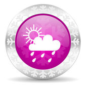 Rain christmas icon — Stock Photo