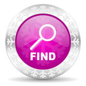 Find christmas icon — Stock Photo